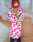 Girl's lovely soft polyster bath robe