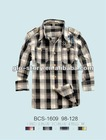 tee boys yarn dyed check polo shirt