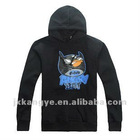 Men' black Bat Man cotton pullover hoodie for Autumn wear