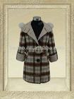60609-girls hooded elegant fashion wool/teenage fashion clothes/ merino wool clothes/child clothes 2