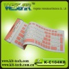 Hot-selling with 104 keys flexible silicon soft keyboard