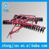 Hydraulic disc harrow with hydraulic