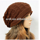 2012 new trendy ladies knitted caps for winter season