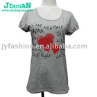 women short sleeve printing tshirt