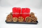 """3""""x4"""" LED candle with 5 hours timer cycle automatically"""