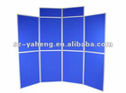panel folding with dark blue fabric