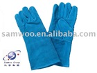 (HL402F-GRN A.B class) blue cow split leather welding glove