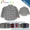 100% cotton child wear Long fashoin boys shirt 839#