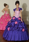 Taffeta New Arrival Fashion Strapless A-Line Elegant Tiered Ball Gown BG-173