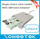 SLIM Hot selling USB Single ID/Smart Card Reader for ID Card,ATM