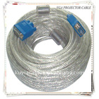 BRAND NEW Transparent White VGA cable 20M HIGH DEFINITION VGA TO VGA M/M CABLE FOR PRJOECTOR LCD CRT MONITOR LONG DISTANCE