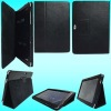 Black Leather Carrying Folio Case with Built-in Stand for P7510