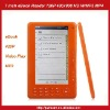 eBook Reader 7inch 720P HD Color Screen With MP3 MP4-Orange
