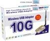 New 1500mW Wifisky 8187L Wireless 10G USB WiFi Adapter Card with 6dBi Antenna
