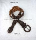 stylish braided leather rope belt