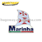 2012 sweep shaped individual brass lapel pins