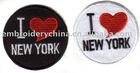 Custom-made Fashion Embroidery Patch - I love new york