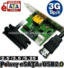 A826 HOT ESATA + USB2.0 2.5' 3.5' 5.25' PC High-speed transmission device free shipping