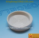 Ceramic bathroom round soap dish and plate