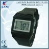 Black square fashion digital high quality watch