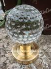 clear golf ball crystal door handle