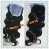 Body wave Malaysian virgin hair top closure with pu