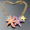 Fashion crystal/rhinestone charm necklace