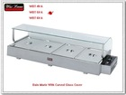2012 year New electric bain marie with curved glass cover
