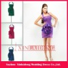CTD001 stylish halter strapless lace up short bodic taffeta cocktail dress