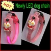 Fashion Pink colour Lighting LED Dog Collar