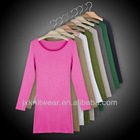 100%cotton slim fit plain o-neck T-shirt for girl