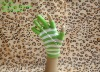 100% acrylic five fingers jacquard magic gloves