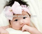 Fashion kids bow hair band headband -Hair Accessories Lace pure color girl