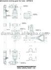 Dm01031/Dm01031S, complete locking gear for tube 27*2.5mm