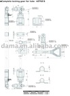 Dm01031/Dm01031S, complete locking gear for tube 27*2.5mm