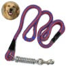 Shock Braided Leashes Round Pet Dog belt with Spring