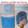 Non-woven bouffant cap with single elastic