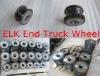 End truck wheel-crane