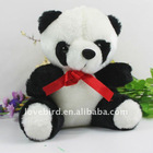 Lovely stuffed & short plush toys panda with PP fiber in plush animal toy