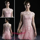 Hot-Sale Coniefox 2011 Classic Pink Short Bridesmaid Dress 80919