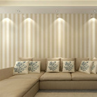 Biege Stripe Wallpaper,Elegent Wallpaer for Decoration,Non-woven Stripe Wallpaper with Modern Design