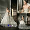 Beaded Sparkling Tulle Strapless A-line Bridal Dresses Wedding Dress