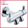 dual knobs brass angle valve