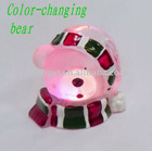 LED Color-changing Acrylic Bear Head Christmas Ornament