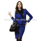 Phenix dan high quality Classical Office Lady Suit Short Coat with Zippered Skrit