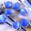 Cat Eye Bead/Blue Stone Bead Pendant DIY Jewelry Bead