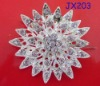 Silver Flower Alloy Brooches Pin