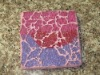 square crackle glass mosaic coasters
