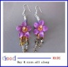 genuine leather and crystal beads earring eardrop