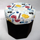 Six diamond black fundus cartoon have cover storage stools